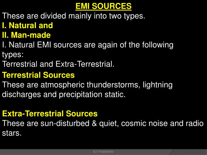 EMI SOURCES