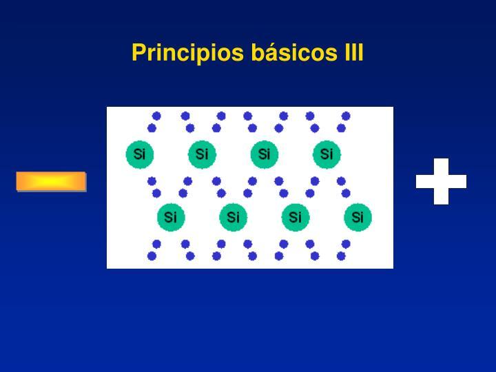 Principios básicos III