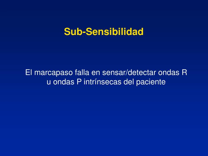 Sub-Sensibilidad
