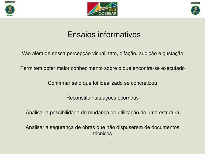 Ensaios informativos1
