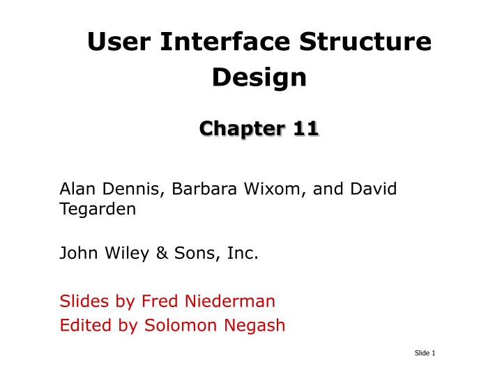 user interface structure design chapter 11 n.