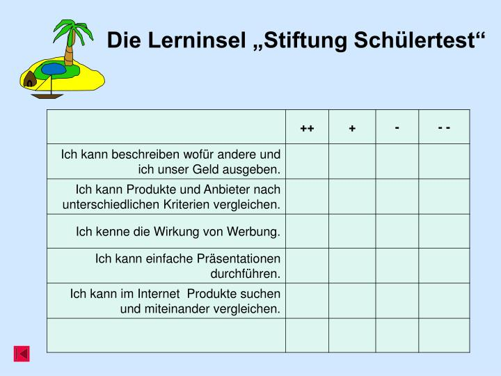 """Die Lerninsel """"Stiftung Schülertest"""""""