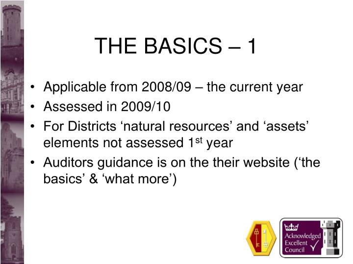 The basics 1
