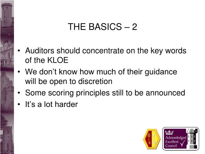 The basics 2