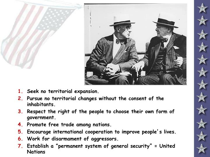 Seek no territorial expansion.