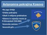 avtonomna pokrajina kosovo