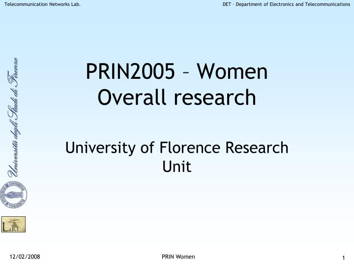 prin2005 women overall research n.