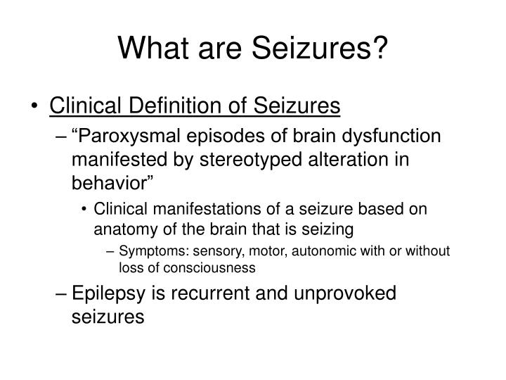 What are seizures
