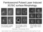 femtosecond pulsed laser induced 3c sic surface morphology