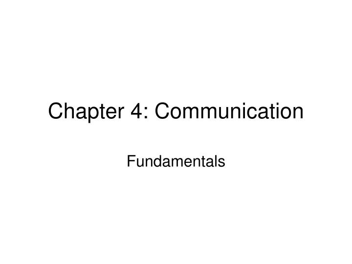 chapter 4 communication n.
