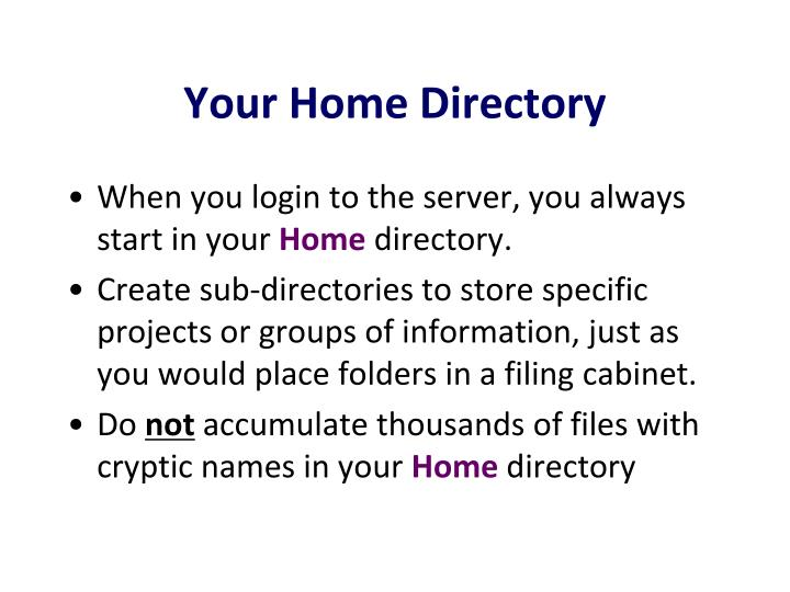 your home directory n.