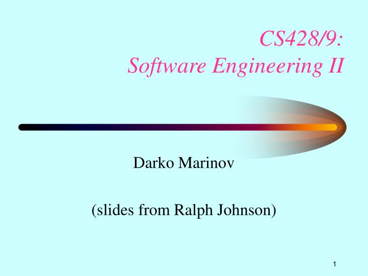 cs428 9 software engineering ii n.
