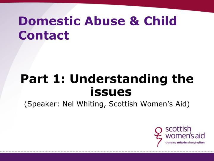 domestic abuse child contact n.