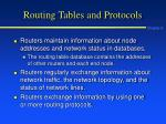 routing tables and protocols