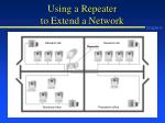 using a repeater to extend a network