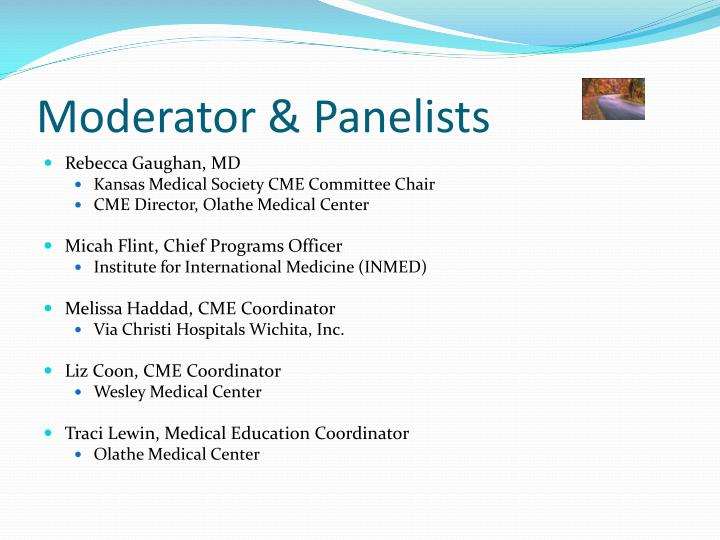 Moderator panelists