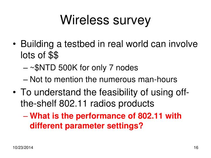 Wireless survey