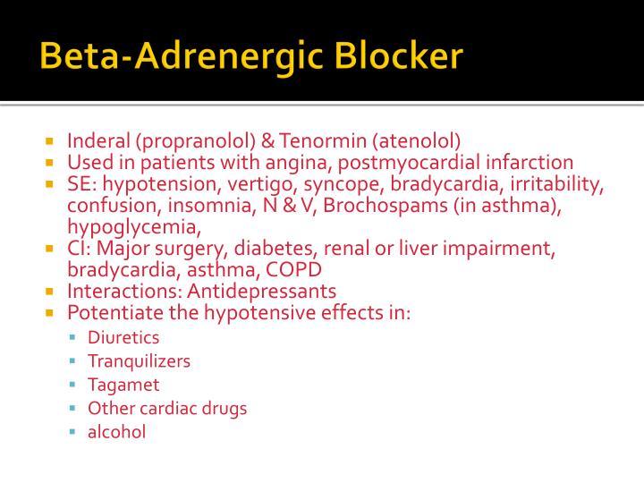 Beta-Adrenergic Blocker