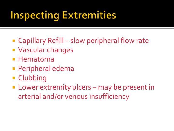 Inspecting Extremities