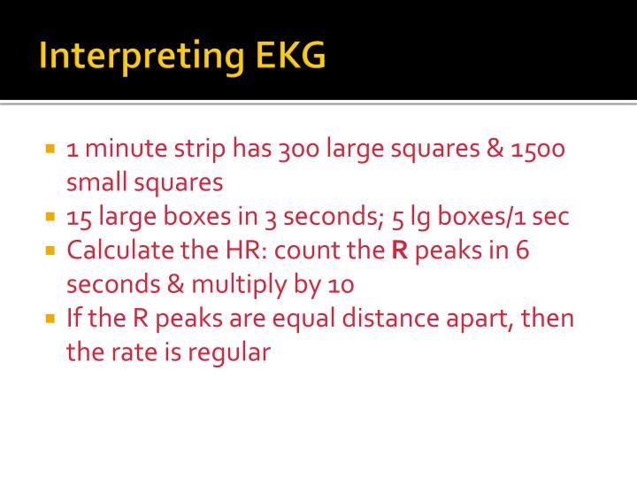 Interpreting EKG
