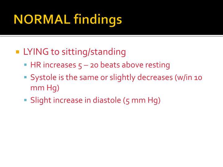 NORMAL findings