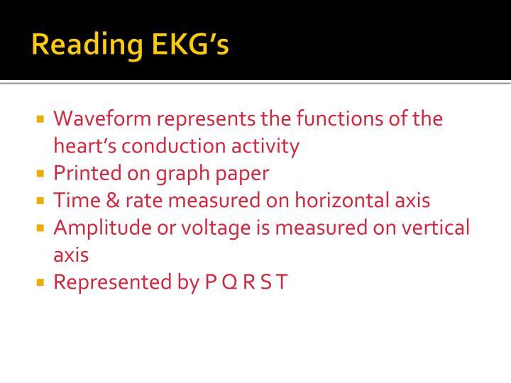Reading EKG's