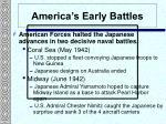 america s early battles