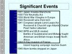 significant events