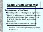 social effects of the war