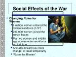 social effects of the war1