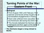 turning points of the war eastern front