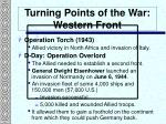 turning points of the war western front