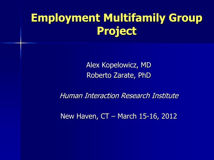 Employment multifamily group project