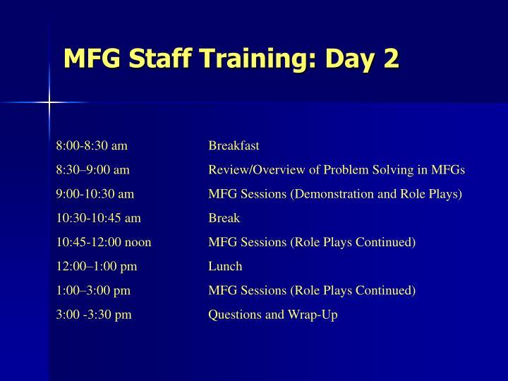 Mfg staff training day 2