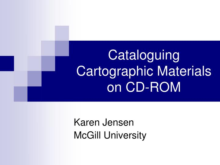 cataloguing cartographic materials on cd rom n.