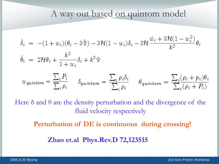 A way out based on quintom model