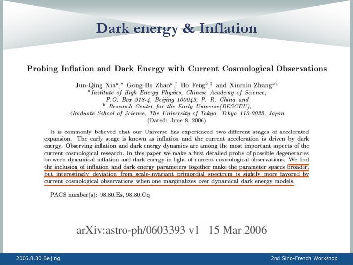 Dark energy & Inflation