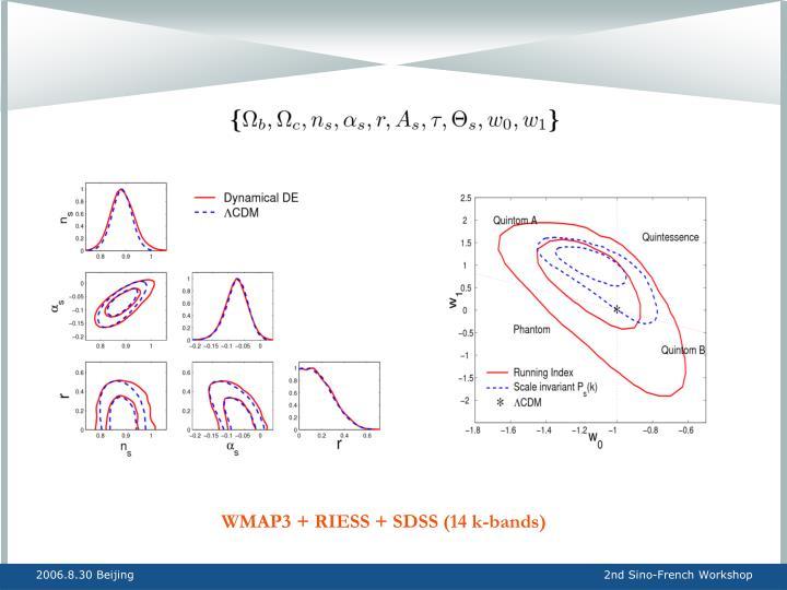 WMAP3 + RIESS + SDSS (14 k-bands)