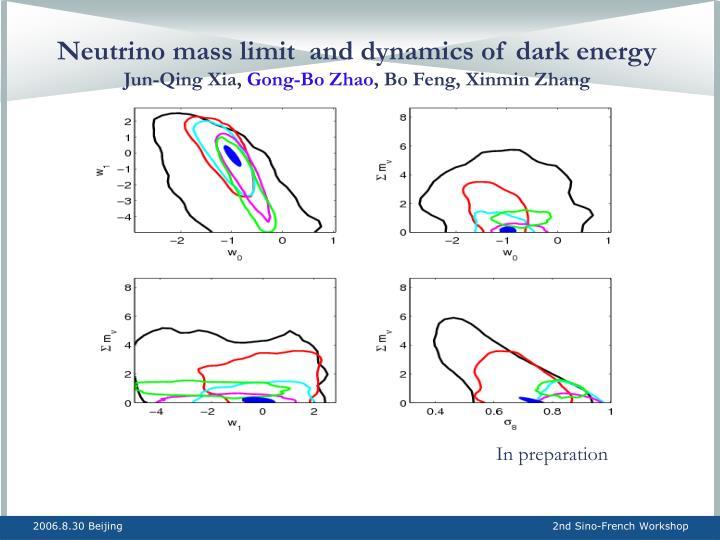 Neutrino mass limit  and dynamics of dark energy