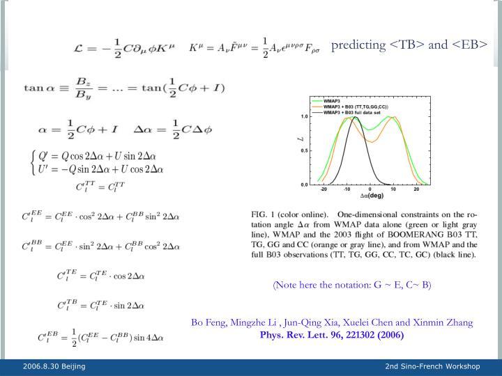 predicting <TB> and <EB>