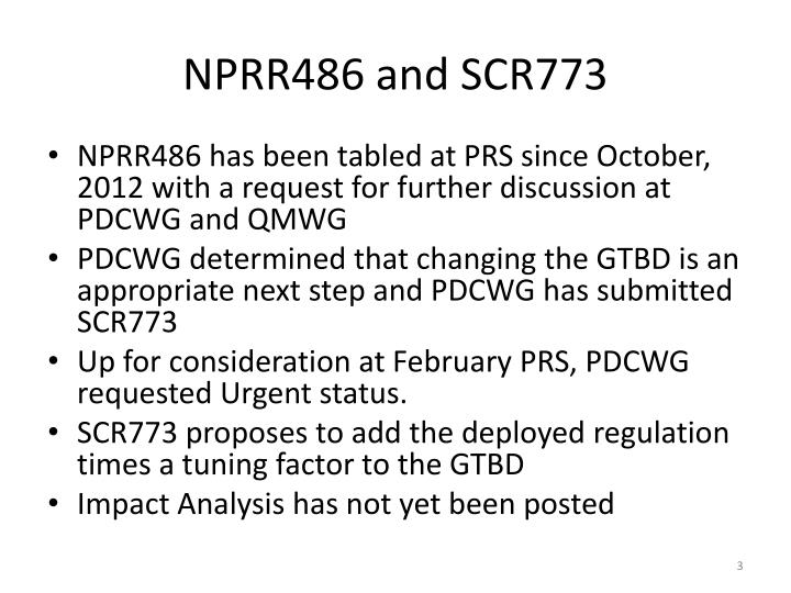 Nprr486 and scr773