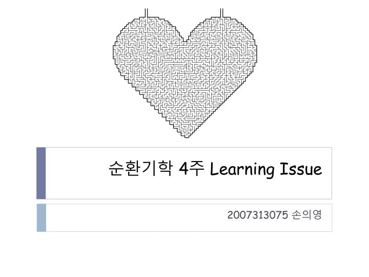 4 learning issue n.