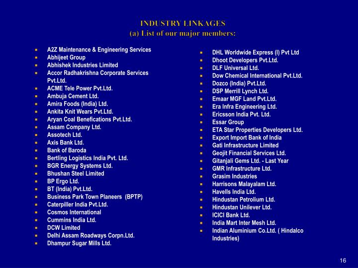 INDUSTRY LINKAGES