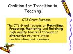 coalition for transition to teaching