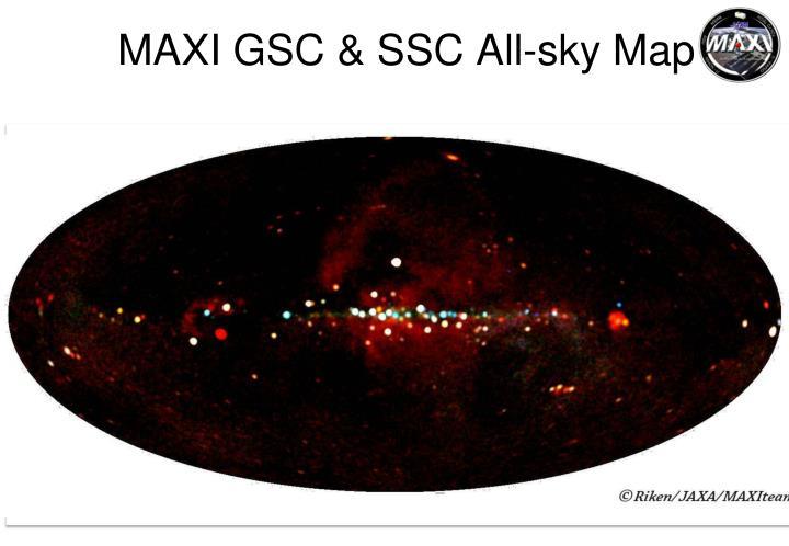 MAXI GSC & SSC All-sky Map