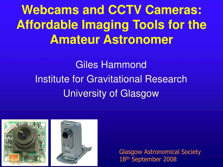 giles hammond institute for gravitational research university of glasgow n.