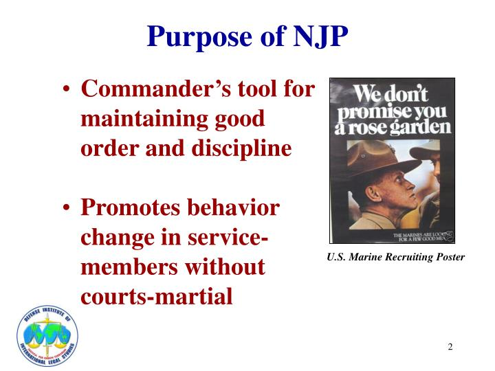 officer and nonjudicial punishment Note: a court-martial sentence or non-judicial punishment may be accompanied by other the officer went to non-judicial punishment (charges and.