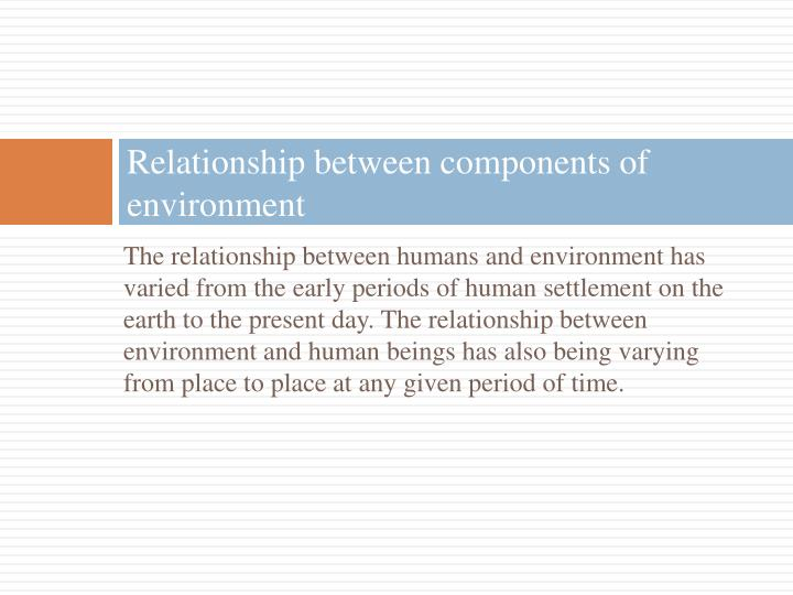 Relationship between components of environment