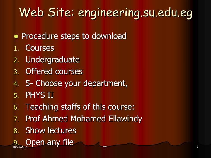 Web site engineering su edu eg