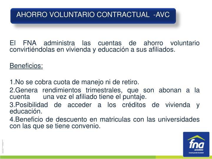 AHORRO VOLUNTARIO CONTRACTUAL  -AVC